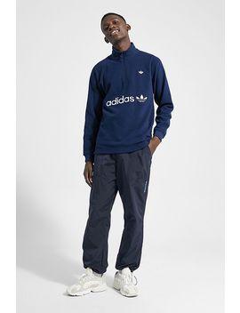 Adidas Leg Ink Half Zip Fleece Sweatshirt by Adidas
