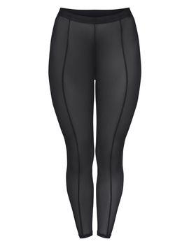 Black Mesh Seam Detail Legging  by Prettylittlething