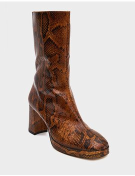 Carlota Boot In Citrine Snake by Miista Miista