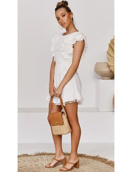 Clancy Playsuit   White by Billy J.