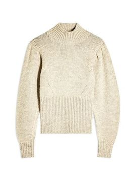 Idol Banana Sleeve Funnel Neck Jumper by Topshop