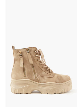 Faux Nubuck Ankle Boots by Forever 21