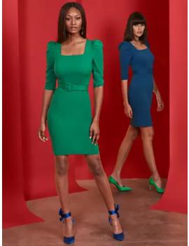 Square Neck Sheath Dress   Magic Crepe® by New York & Company