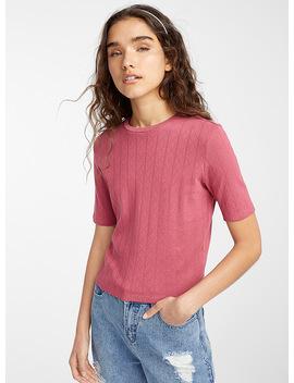Le T Shirt Pointelle Coton Bio by Twik
