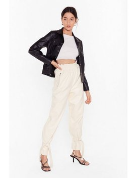 Breaking News Faux Leather Paperbag Pants by Nasty Gal