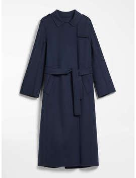 Wool And Angora Trench Coat by Max Mara