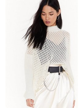 Net You Still Think Of Me Open Knit Jumper by Nasty Gal