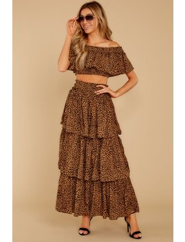 Line Of Fire Leopard Print Two Piece Set by Storia