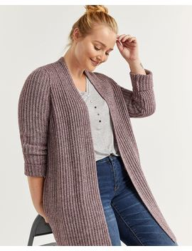 Long Sleeve Ribbed Open Cardigan by Reitmans