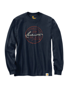 Workwear Detroit Born Graphic Long Sleeve T Shirt by Carhartt