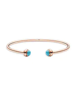 Possession Turquoise & 18 K Rose Gold Open Bangle by Piaget