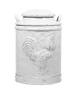 Medium Rooster Embossed Canister by Home Essentials