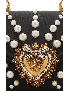 Devotion Faux Pearl Embellished Leather Shoulder Bag by Dolce & Gabbana