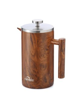 Nimble Double Walled French Press Coffee Maker   English Wood by Nimble
