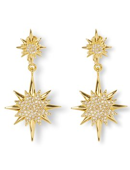 Double Drop Celestial Clip Earrings by Vince Camuto
