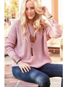 Serena Twist Front Or Back Sweater by Three Bird Nest