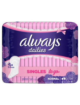 Always Dailies Liners Singles To Go X20 by Superdrug