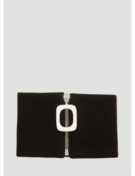 Men's Zipped Neckband In Black by Jw Anderson