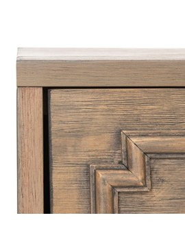 Safavieh Leighton 3 Drawer Nightstand   Weathered / Oak by Safavieh