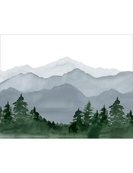 Mountain Large Art Print by Paper Source