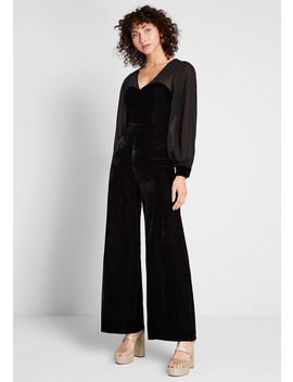 Ready For My Close Up Velvet Jumpsuit by Collectif