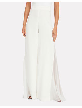 Liquid Crepe Wide Leg Pants by Cushnie