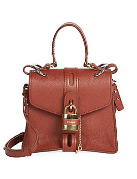Aby Leather Top Handle Bag by Chloé