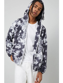 Hooded Cloud Wash Windbreaker by Forever 21