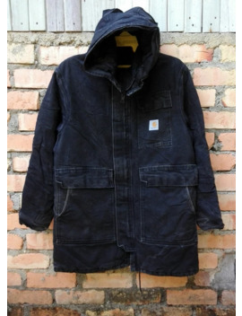 Carhartt Jacket Denim Made In U.S.A by Vintage  ×  Carhartt  ×  Workers  ×