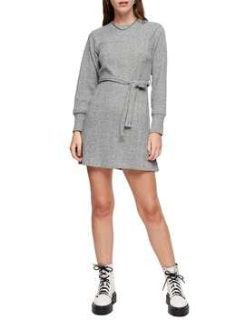 Long Sleeve Belted Minidress by Topshop