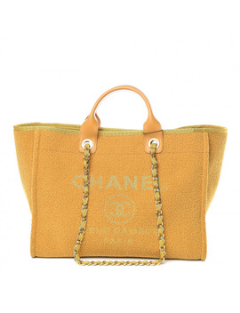 Chanel Lurex Boucle Medium Deauville Tote Yellow by Chanel