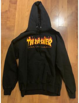 Thrasher Flame Logo Black Hoodie by Thrasher  ×