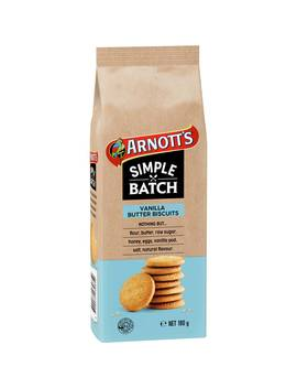 Arnotts Simple Batch Vanilla Butter Biscuits 180g by Arnotts