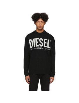 Black K Logo Sweater by Diesel