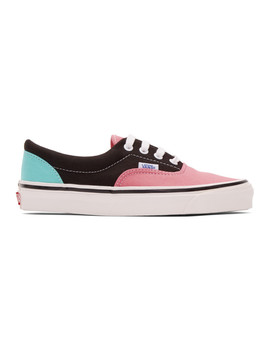 Black & Pink Anaheim Factory Era 95 Dx Sneakers by Vans