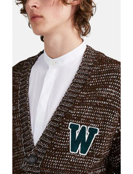College Oversized Cardigan by Wales Bonner