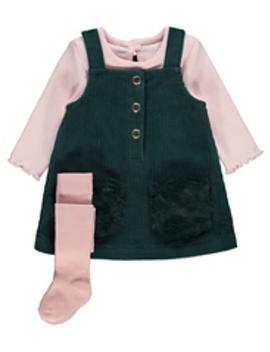 Pink Bear Fleece Sleepsuits 2 Pack by Asda