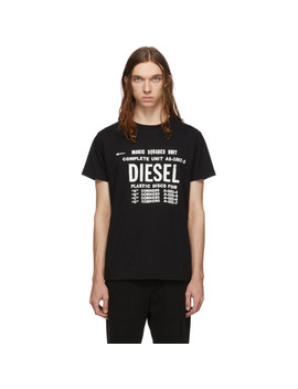 Black T Diego B6 T Shirt by Diesel