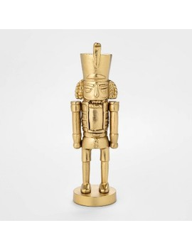 "11"" X 3.4"" Cast Brass Christmas Nutcracker Figurine Gold   Threshold™ by Threshold"