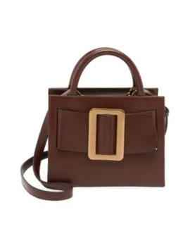 Small Bobby Buckle Leather Crossbody Tote by Boyy