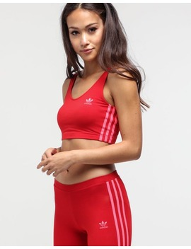 Adidas Women's Cropped Tank Scarlet by Adidas