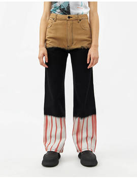 Wide Leg Jean In Tri Stack by Eckhaus Lattaeckhaus Latta