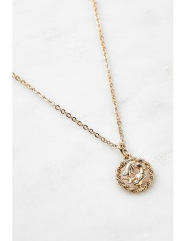Pisces Small Zodiac Pendant Necklace by Urban Outfitters