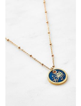 Mirabelle Shining Star Pendant Gold Plated Necklace by Urban Outfitters