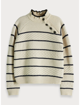 Button Neck Sweater by Scotch&Soda