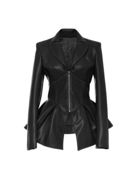 Rosetic Women Jacket Black Gothic Faux Leather Pu Jacket Women Winter Spring Motorcycle Jacket Black Faux Goth Leather Coats by Ali Express.Com
