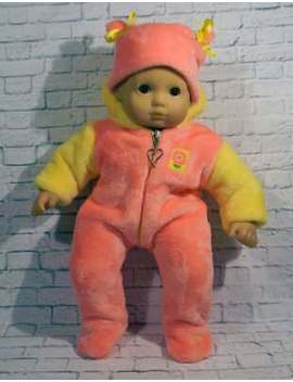 "15"" Bitty Baby Doll Clothes Made To Fit Bitty Baby Pink Sleeper Pajamas, Hat by American Girl"