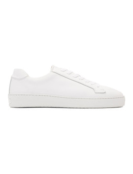 White Salas Low Top Sneakers by Tiger Of Sweden