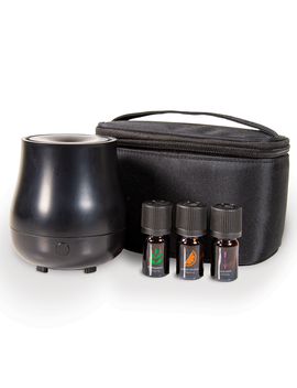 Scent Sationals 100% Pure Essential Oil 5 Piece Usb Diffuser Travel Set, Black by Scent Sationals