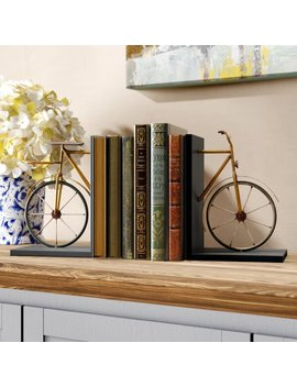 Bicycle Bookends by Grovelane Teen